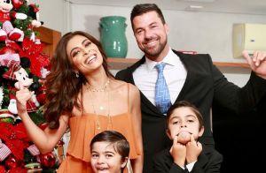 Juliana Paes e o marido comemoram aniversário de 6 anos do caçula, Antônio