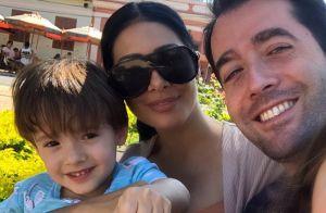 Simaria mostra fotos do batizado do filho, Pawel: 'Veio salvar a minha vida'