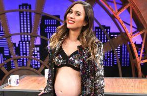 Tatá Werneck deixa barriga de gravidez à mostra em foto e brinca: 'Sensual'