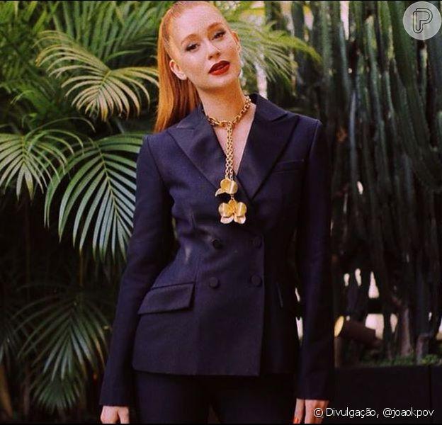 Marina Ruy Barbosa usa look Dior com joias florais em evento global nesta quinta-feira, dia 08 de agosto de 2019
