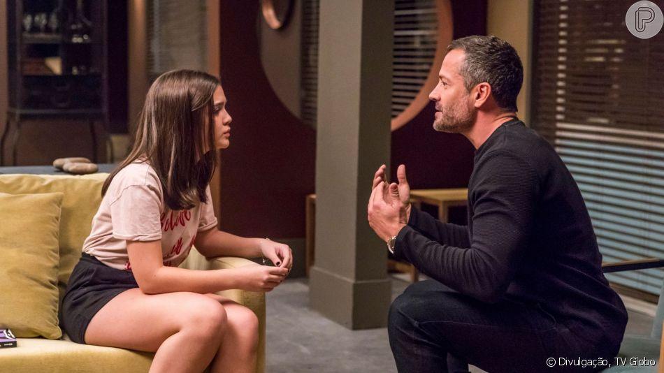 Nos próximos capítulos da novela 'A Dona do Pedaço', Agno (Malvino Salvador) conta para a filha, Cássia (Mel Maia), que é gay, revoltando a garota: 'Nunca vou te aceitar!'