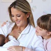 Ticiane Pinheiro destaca cuidado de Rafaella com a irmã: 'Quer trocar fraldas'