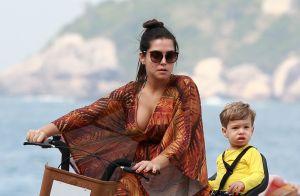 Thais Fersoza e Teló combinam penteados com os filhos, Melinda e Teodoro. Veja!