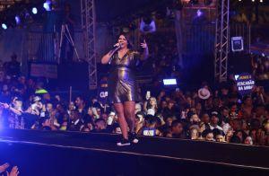 Conforto na gravidez: Marilia Mendonça alia look de festa a tênis em show. Veja!