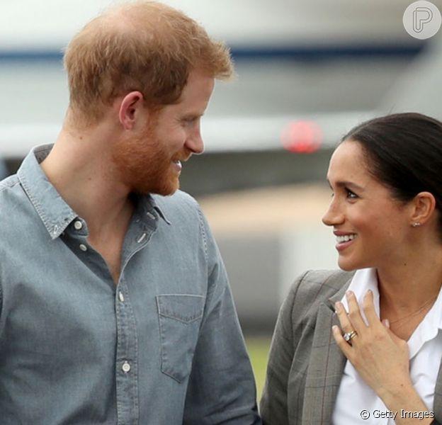 Meghan Markle é criticada por homenagem ao Príncipe Harry em foto neste domingo, dia 15 de setembro de 2019