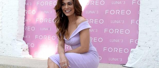 Trend alert: Juliana Paes combina vestido lavanda e sandália de tiras em look