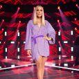 Look de Ivete Sangalo: cantora surpreendeu com cabelo loiro e  vestido lilás com brilho da grife Retrofête para semifinal do 'The Voice'