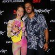 Isabella Santoni e o namorado, Caio Vaz, marcaram presença no primeiro dia de Rock in Rio 2019