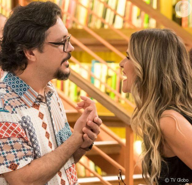 Silvana (Ingrid Guimarães) e Mario (Lucio Mauro Filho) transam na novela 'Bom Sucesso'
