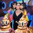 Giovanna Antonelli faz foto com as gêmeasSofia e Antonia em festa de nove anos das filhas