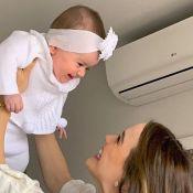 Thaeme se encanta ao apresentar a filha, Liz, a Enrico Bacchi: 'Primeiro beijo'