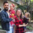 Rafael Cardoso e Mariana Bridi são pais de Aurora, de 5 anos, Valentim, de 1