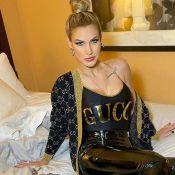 Andressa Suita transforma maiô da Gucci em body para look nos EUA. Fotos!