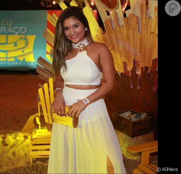 Mileide Mihaile e Neto Santos curtiram juntos o show de Wallas Arrais em Fortaleza