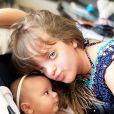 Ticiane Pinheiro é mãe de Rafaella, de 10 anos, e Manuella, de quase 4 meses