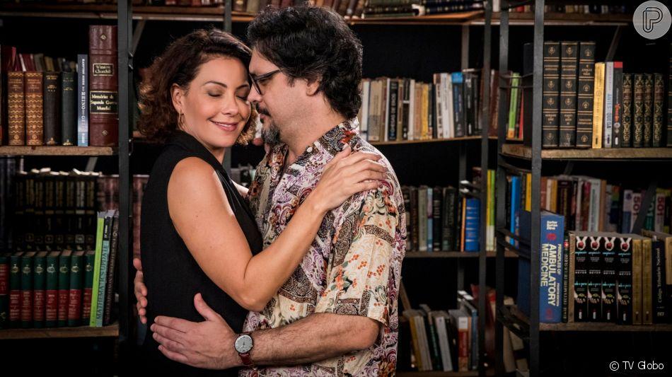 Nana (Fabiula Nascimento) se declara para Mário (Lucio Mauro Filho) na novela 'Bom Sucesso'