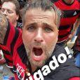 Bruno Gagliasso viaja à Lima e vê vitória do Flamengo na Libertadores no estádio