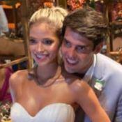 Filhos de Kaká levam alianças no casamento do pai com Carol Dias. Vídeo!