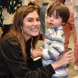 Bruna Hamú leva filho, Júlio, de 2 anos, a evento de moda infantil