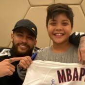 Filho de Wesley Safadão, Yhudy conhece Neymar e agradece: 'Valeu, pai'. Vídeo!