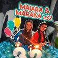 Maiara foi surpreendida com festa surpresa promovida por fãs em bastidor de show neste fim de semana