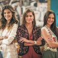 Vitória Strada, Deborah Secco e Juliana Paiva são as protagonistas da novela 'Salve-se Quem Puder'