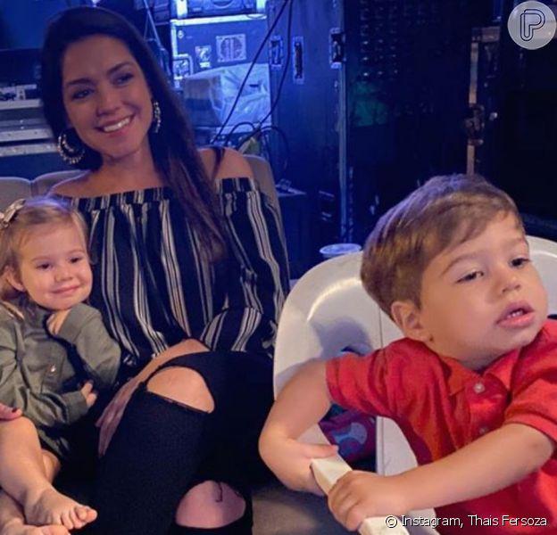 Filha de Michel Teló e Thais Fersoza, Melinda surpreendeu a mãe pela forma a qual chamou o irmão: 'Michel!'