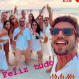 Grazi Massafera faz post de aniversário de Caio Castro: 'Ele! Feliz tudo'