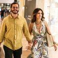 Fátima Bernardes foi fotografada de mãos dadas com namorado, Túlio Gadêlha