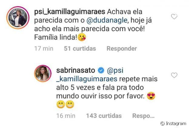 Sabrina Sato faz pedido inusitado a seguidora