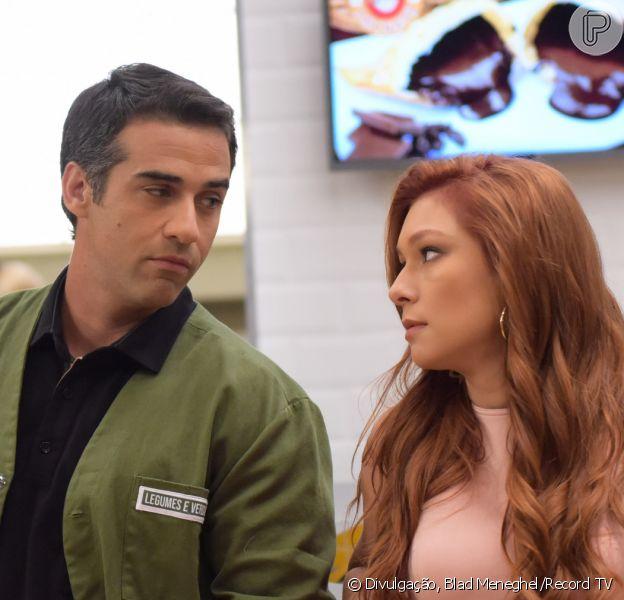 Nos próximos capítulos da novela 'Amor Sem Igual', a Poderosa (Day Mesquita) se revolta com Miguel (Rafael Sardão) e decide deixar a casa do agrônomo