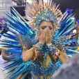 Lexa  não escondeu a emoção ao desfilar com rainha de bateria da Unidos da Tijuca