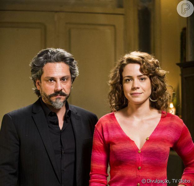 Cristina (Leandra Leal) exige que José Alfredo (Alexandre Nero) faça o teste de DNA, em 'Império', em 27 de outubro de 2014