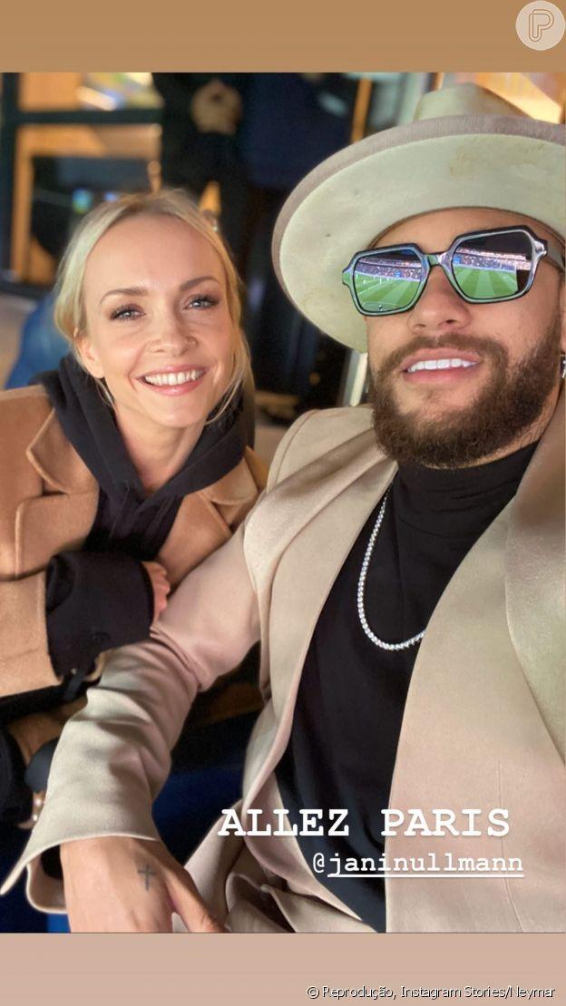 Neymar posa com a apresentadora Janin Ulhmann e levanta suspeitas de affair