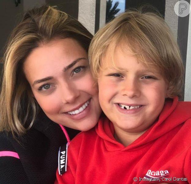 Carol Dantas explicou por que filho Davi Lucca faz dieta aos 8 anos