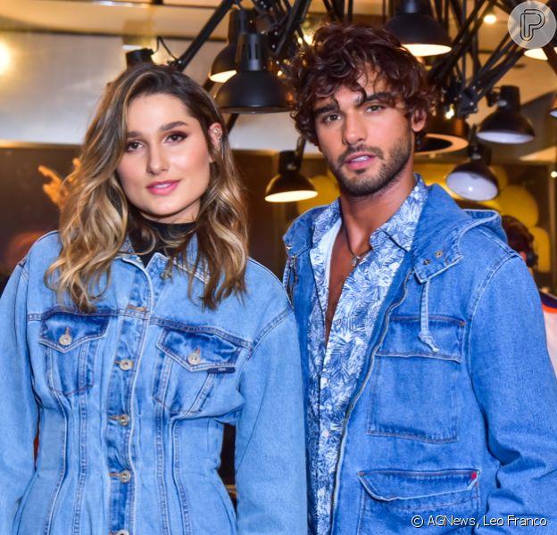 Sasha Meneghel e Marlon Teixeira prestigiam lançamento de coleção da marca Forum, em São Paulo, nesta quinta-feira, 05 de março de 2020