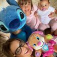 Ticiane Pinheiro é mãe de Rafaella Justus, de 10 anos, e Manuella, de 9 meses