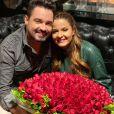 Buquê de Fernando Zor para Maiara é formado por rosas