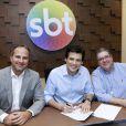 Celso Portiolli renovou seu contrato com o SBT por mais três anos, em 28 de outubro de 2014