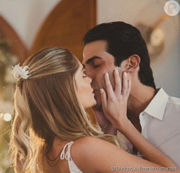 Bárbara Evans e Gustavo Theodoro tiveram casamento reservado por conta da pandemia do novo coronavírus
