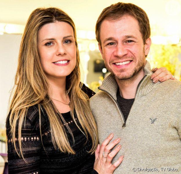 Daiana Garbin está grávida do primeiro filho com Tiago Leifert