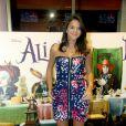 Para a pré-estreia do filme 'Alice no País das Maravilhas' (2010), Bruna optou por um tomara que caia estampado