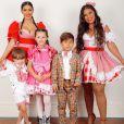 Filhos de Simone e Simaria cantaram juntos em live junina
