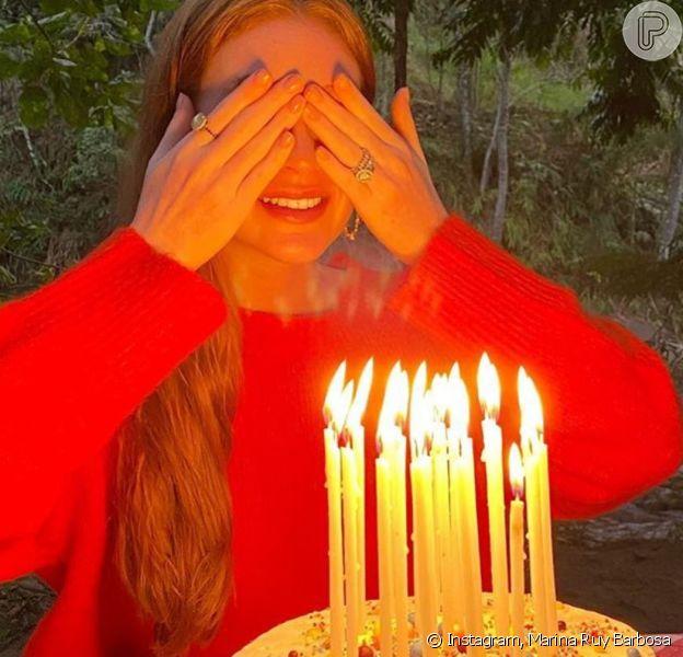 Marina Ruy Barbosa comemora a chegada dos 25 anos, nesta terça-feira, 20 de junho de 2020