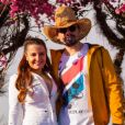 Maiara escolhe look all white para live de Fernando e Sorocaba, em 5 de julho de 2020