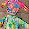 Filhas de Ticiane Pinheiro faz tie dye e exibe resultado