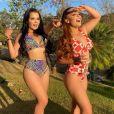 Moda praia de Maiara e Maraisa: dupla usa biquíni hot pants