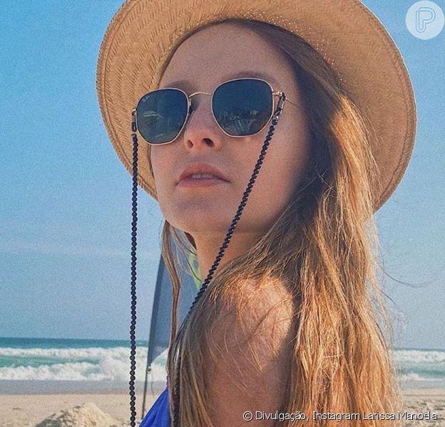 Larissa Manoela foi à praia neste sábado, 5 de setembro de 2020