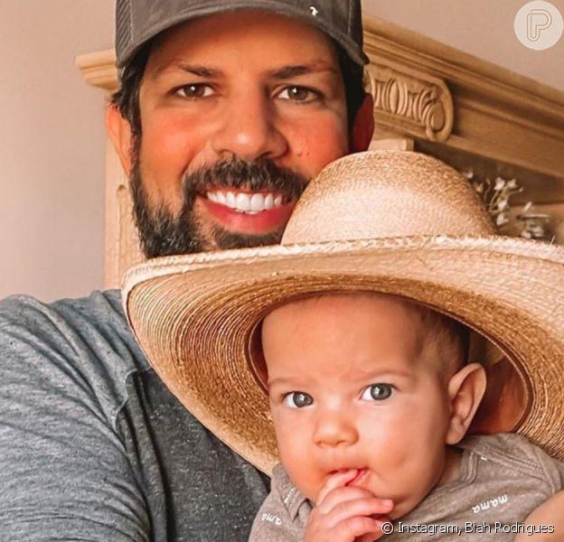 Filho de Sorocaba, dupla de Fernando, usa chapéu de cowboy