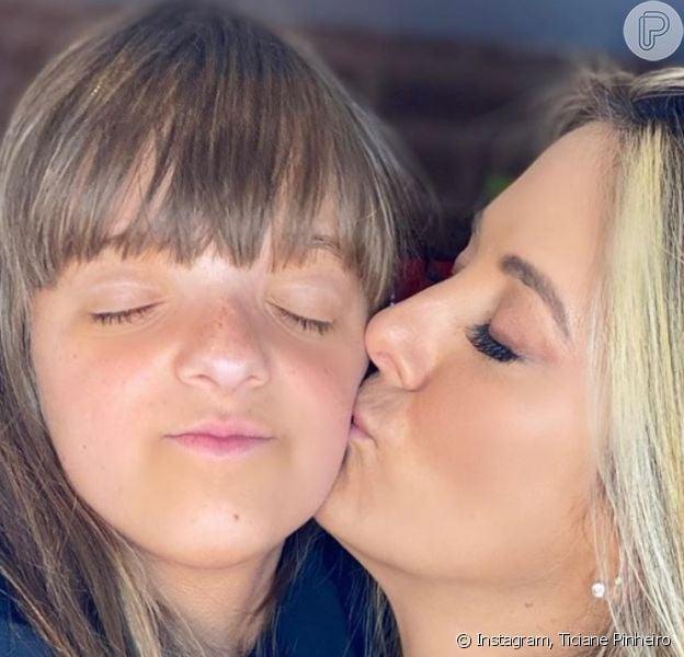 Rafaella Justus roubou a cena em foto com a mãe, Ticiane Pinheiro
